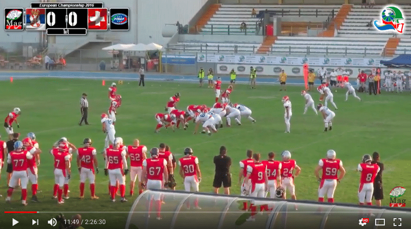 IFAF Europe - 2016 Qualifying tournament - Italy-Serbia - action2