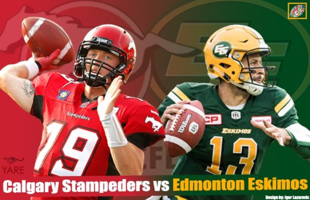 Stamps beat Edmonton in the Labour Day Classic at McMahon Stadium