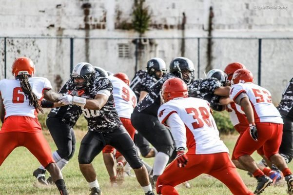Linebacker, Joe Small (#6) and safety, João Pires (#38) will have to lead the Bulls defense without the help of injured captain, Hudson Pereira (#53). Photo credit: Lyla Della Torre